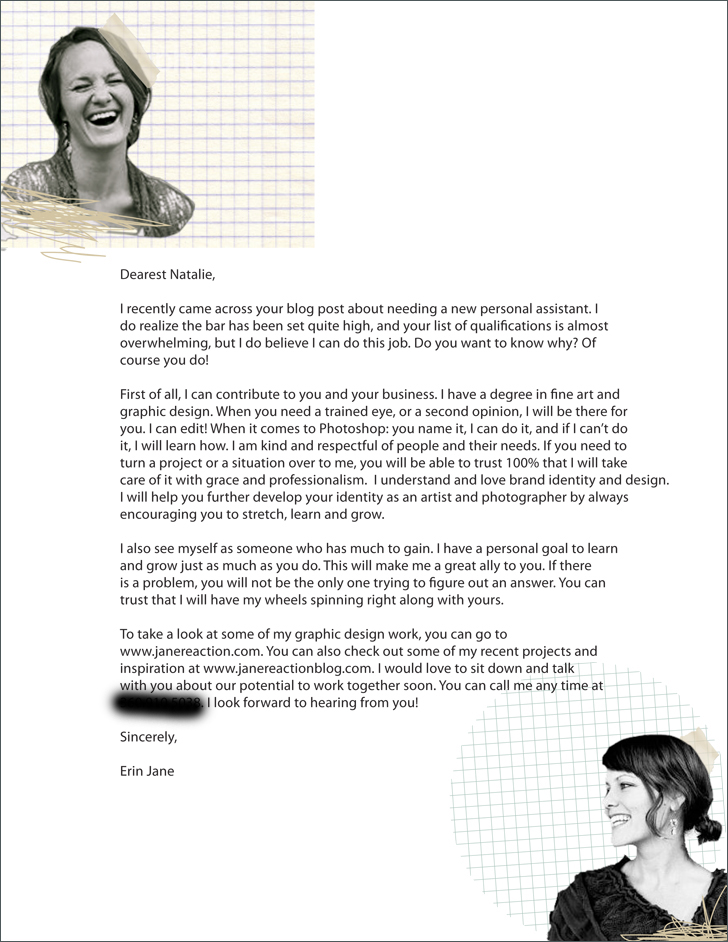 perfect cover letter perfect resum - Cover Letter For Photography